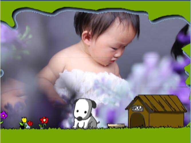 哆啦A梦儿童电子相册模板