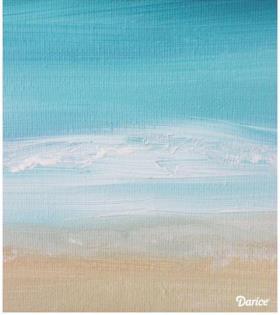 创意水粉画:海天相接