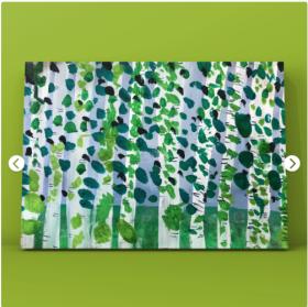 创意儿童水粉画·《杨树林》