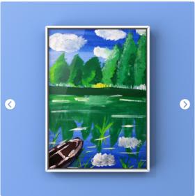 《湖景》·创意儿童水粉画