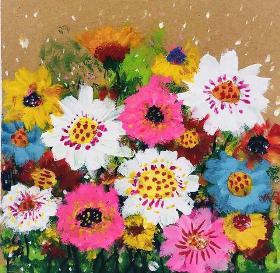 美丽的花丛·适合7-9岁的儿童水粉画教程