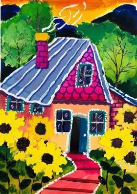奇幻的房子·儿童水粉画教程