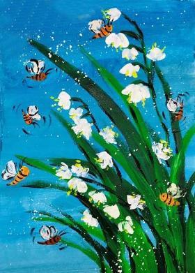 美丽的兰花·水粉画教程