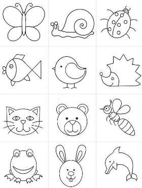 分享一组动物简笔画合集