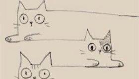 """""""连环猫""""简笔画,很特别哦"""