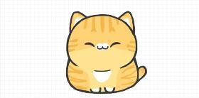 可爱的橘猫大人简笔画教程