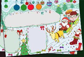 2019年圣诞节手抄报通用模板