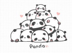 圆滚滚的熊猫团子简笔画教程