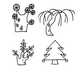 各种树木简笔画合集
