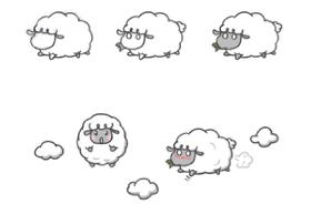 绵羊的简笔画教程