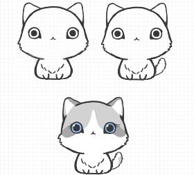 喵星人系列——布偶猫简笔画教程