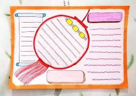 9种不同风格的手抄报素材模板