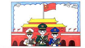 国庆阅兵手抄报通用模板