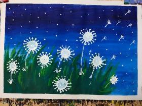 分享一组好看易画的儿童水粉画素材