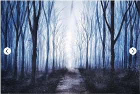 梦幻的森林·唯美水粉画教程