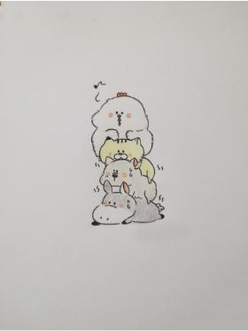 前方高能哦,分享一组可爱的小动物简笔画
