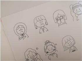 分享一组小屁孩卡通头像简笔画