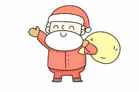2019年圣诞节主题之圣诞老人简笔画教程