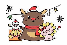 2019年圣诞节主题最in元素简笔画集合