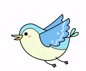 1分钟教你怎么画简单的小鸟简笔画,收藏越来哦