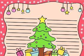 2020年圣诞节手抄报 圣诞树怎么画