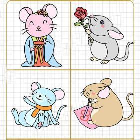 老鼠简笔画简单好看 老鼠嫁女节