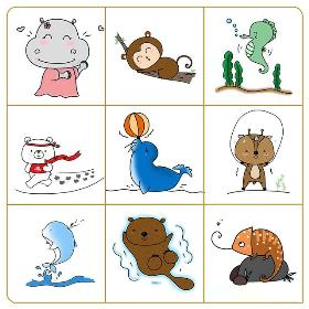 小动物简笔画 简单可爱