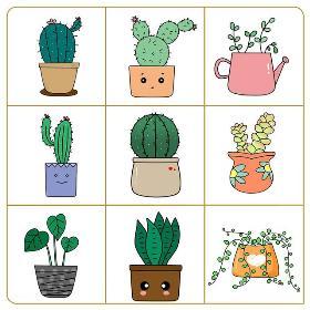 植物简笔画 多肉植物可爱简单易画