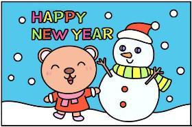 2020年最新老鼠简笔画图片 HAPPY NEW YEAR