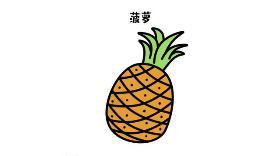 菠萝简笔画 甜甜菠萝bbb