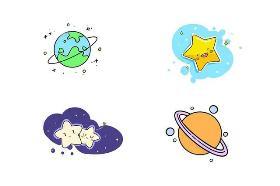 宇宙简笔画 你知道宇宙有多大吗?