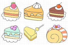 美食简笔画 各种可爱蛋糕简笔画、冰淇凌简笔画任你选