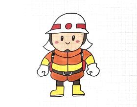 2020年可爱的消防员简笔画