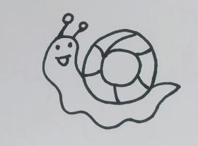 用数字6画蜗牛简笔画