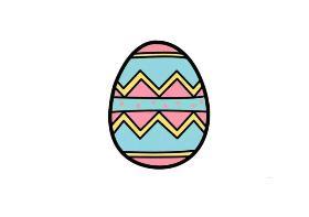 2020年复活节简笔画 复活节画彩蛋是为了带来快乐,更代表着人们的美好心愿