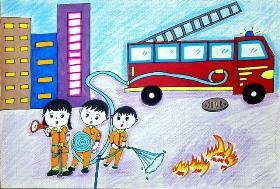 消防安全手抄报 哪有什么岁月静好,只是有人替我们负重前行罢了!致敬逆行的消防英雄们