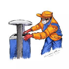 清洁工人简笔画 他们没有特殊的装备,日出而作,日落不息,撑起了每一座城市的安全线