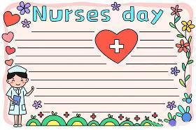 2020年护士节英文手抄报 Happy Nurses day