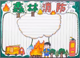 """2020年森林消防手抄报 """"忠诚、为民、公正、廉洁""""的核心价值观"""