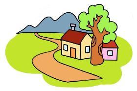 漂亮的农家小屋简笔画