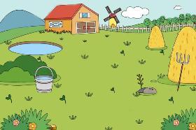 有一大片草地的房子简笔画