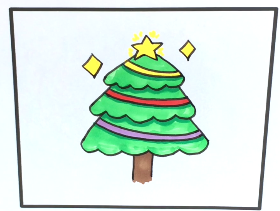 2021年漂亮圣诞树简笔画