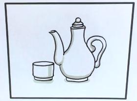 一把小酒壶简笔画