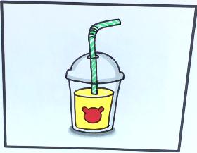 一杯果汁简笔画
