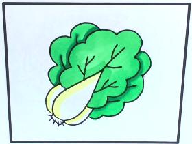 2021年好看又简单的大白菜简笔画