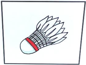 2021年羽毛球简笔画