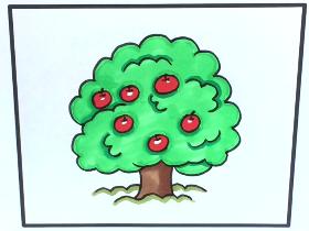 2021年一棵苹果树简笔画