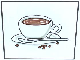 2021年一杯咖啡简笔画