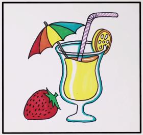 2021年一杯漂亮的果汁简笔画