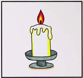 2021年简单好看的蜡烛简笔画